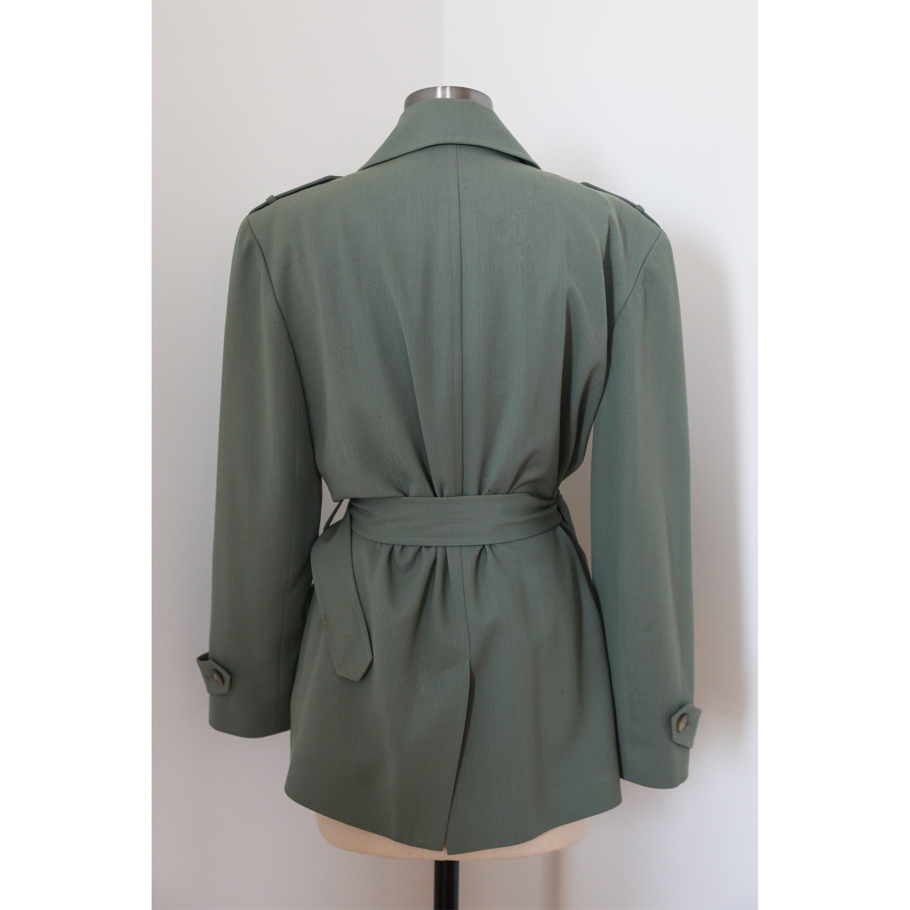 Olive Green Military Trench