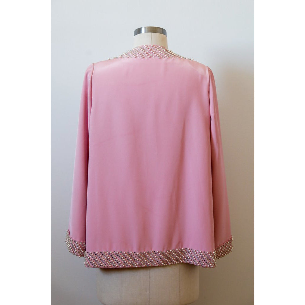 Open Pink Pearl Jacket