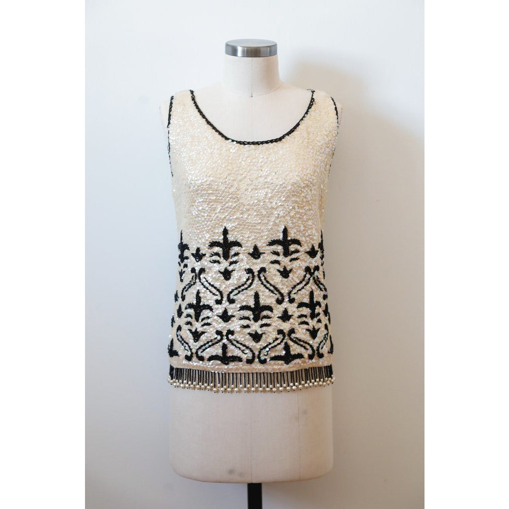 Sequin Occasion Tank Top