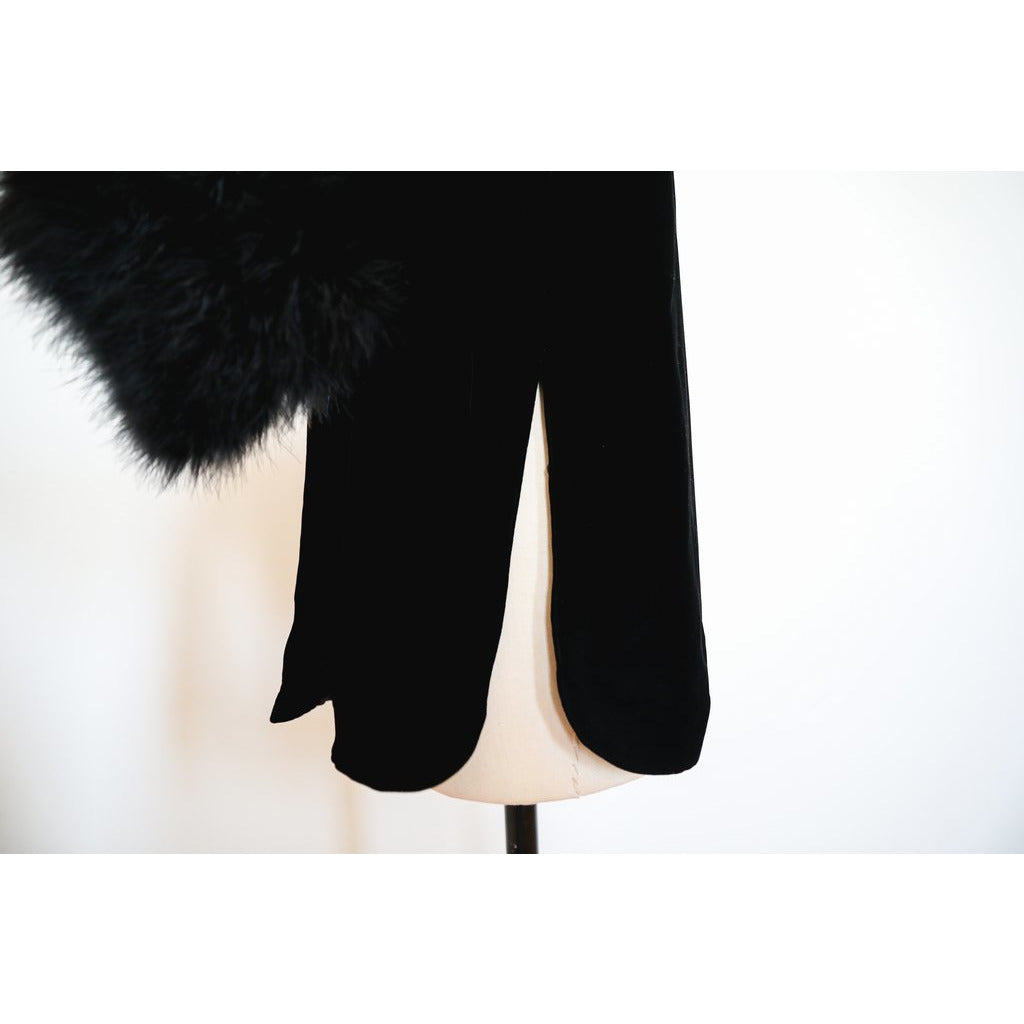 Velvet Fur Trim Jacket