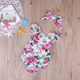 2 Piece Floral Jump Suit Set