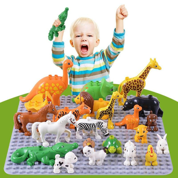 Animal Figure Building Block Set