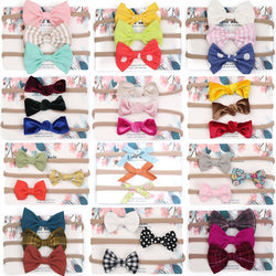 Multi-Colors Bow Knot Hair Bands set