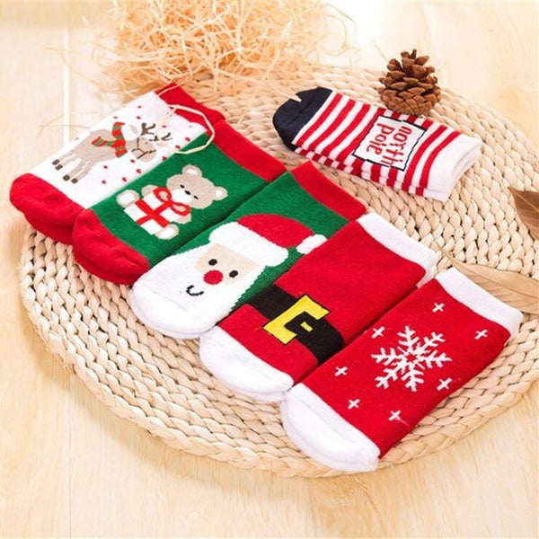 Snowflake Santa Clause Christmas Socks