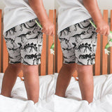 Unisex Printed Casual Shorts