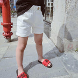 White Black Wild Short Pants