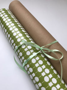 Topiary Gift Wrap Olive