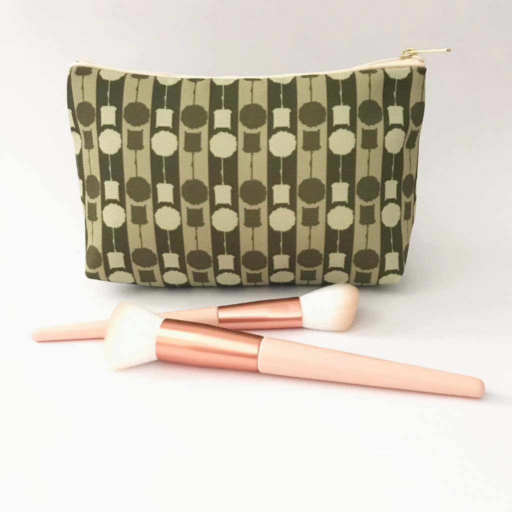 'Topiary Dual' Olive Makeup Bag
