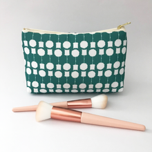 Load image into Gallery viewer, 'Topiary' MakeUp Bag Teal