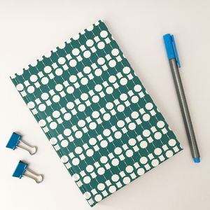 Topiary Notebook Teal