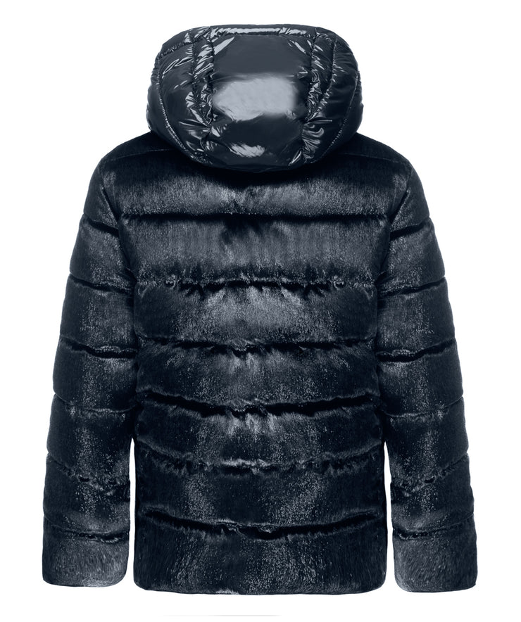 Michy Short Fitted Hooded Puffer Jacket