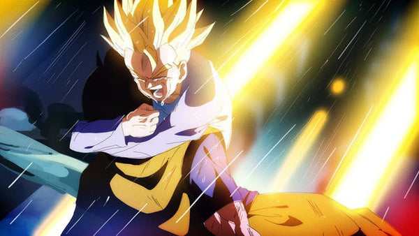 Future Trunks in SSJ for the first time