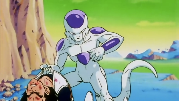 Vegeta is killed by Frieza