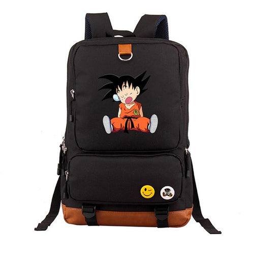 DBZ Kid Goku Sleep Black Backpack