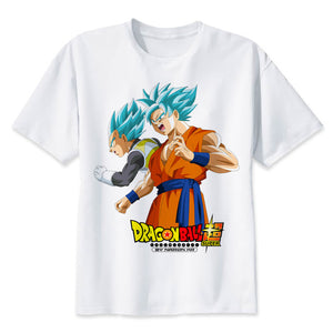 Dragon Ball Super T-shirt Goku Blue & Vegeta Blue Men & Women