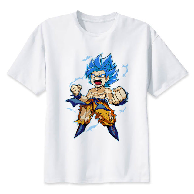 Dragon Ball Super T-shirt Chibi Goku Blue