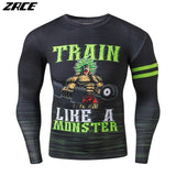 Clothing Men Compression Shirt Long Sleeve Dragon Ball Workout -1
