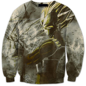 DBZ 3D Digital Printing Sweatshirt Vegeta