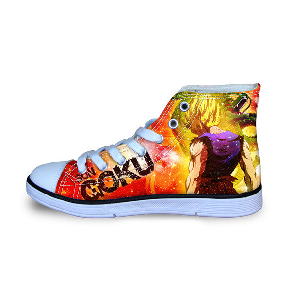 Super Saiyan Goku Canvas Shoes