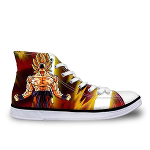 Super Saiyan Goku 2 Canvas Shoes