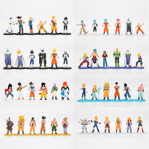 6pcs/set Dragon Ball Z PVC Action Figure