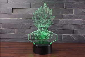 Son Goku Action Figures 3D Table Lamp 7 Color LED - 2