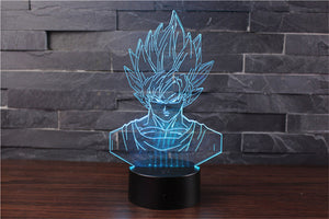 Son Goku Action Figures 3D Table Lamp 7 Color LED - 5