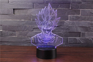 Son Goku Action Figures 3D Table Lamp 7 Color LED - 4