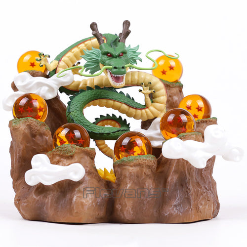 Dragon Shenron + Mountain Stand + 7 Crystal Balls PVC Figures