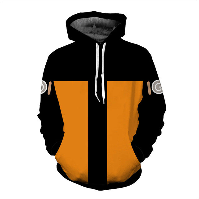 Men 3D Hoodies Dragon Ball Naruto Pocket Hooded Sweatshirts Hot 3D Animation Pullovers Tracksuits Teen Long Sleeve Outerwear