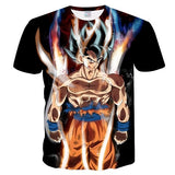 New Dragon Ball Z T-shirts Mens Summer 3D Printing Goku Ultra Instinst