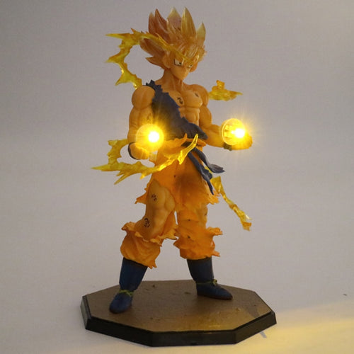 Son Goku LED Light Super Saiyan PVC Action Figure