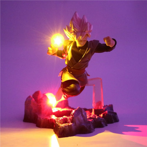 Black Goku Zamasu Action Figures Lamp