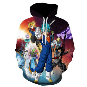 Dragon ball Z pocket hoodie for men 2018