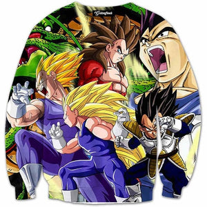 DBZ 3D Sweatshirts Men type of Vegeta