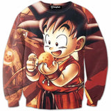 DBZ 3D Sweatshirts Men Littel Goku