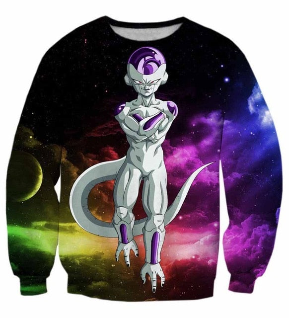 DBZ 3D Sweatshirts Frieza