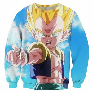 DBZ 3D Sweatshirts Gotenks