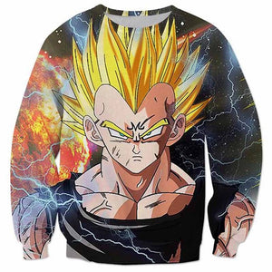 DBZ 3D Sweatshirts Men Super Vegeta