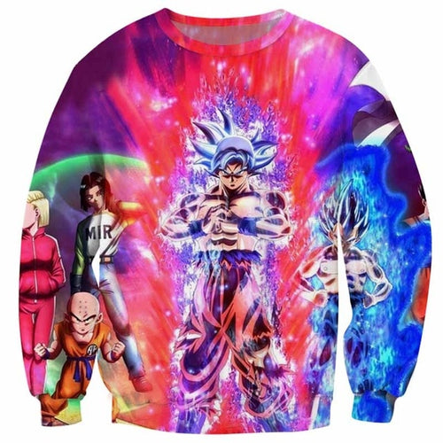 DBZ 3D Sweatshirts Vegeta VS Goku Ultra Instinct
