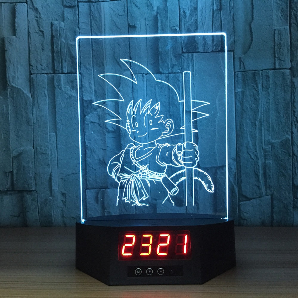Little Son Goku 3D Lamp Figures Perpetual Calendar Time
