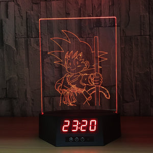 Little Son Goku 3D Lamp Figures Perpetual Calendar Time -5