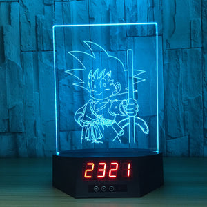 Little Son Goku 3D Lamp Figures Perpetual Calendar Time -3