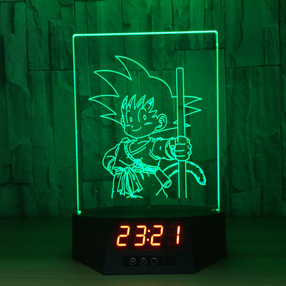 Little Son Goku 3D Lamp Figures Perpetual Calendar Time -4
