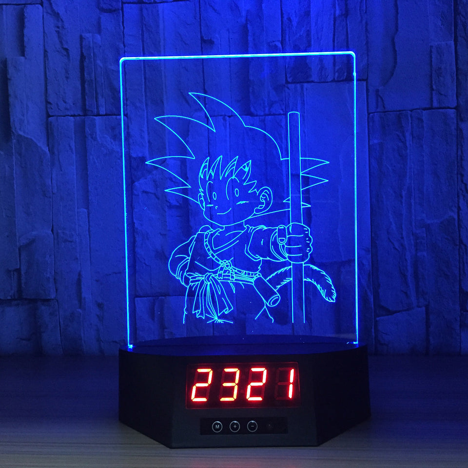 Little Son Goku 3D Lamp Figures Perpetual Calendar Time -1