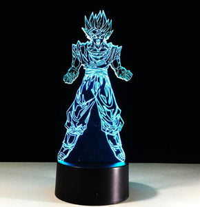 Super Saiyan Action Figures 3D Table Lamp