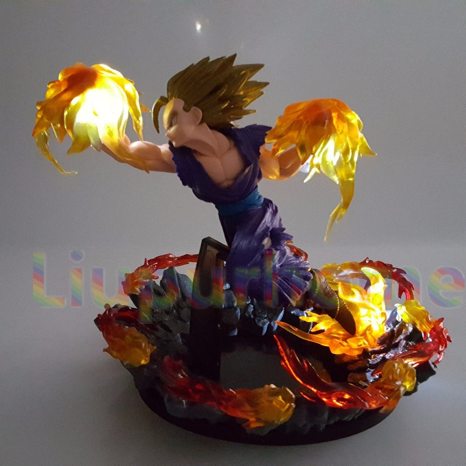Gohan Super Saiyan Fire Fist Led Light Desk Lamp