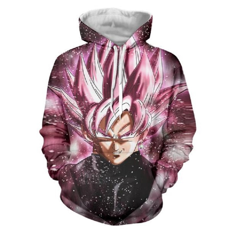 Goku Black 3D Sweatshirts Men Hoodies