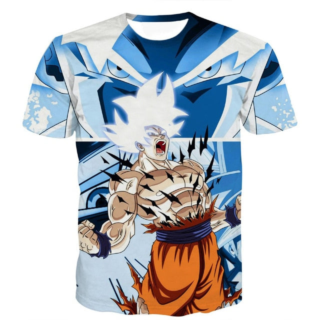 Men's Summer T-shirts 3D Printing Goku Ultra Instinct