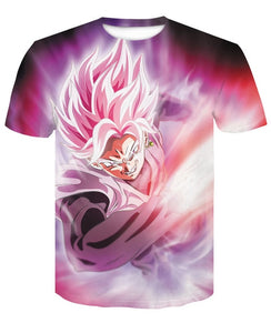 Black Goku Rose T-shirt